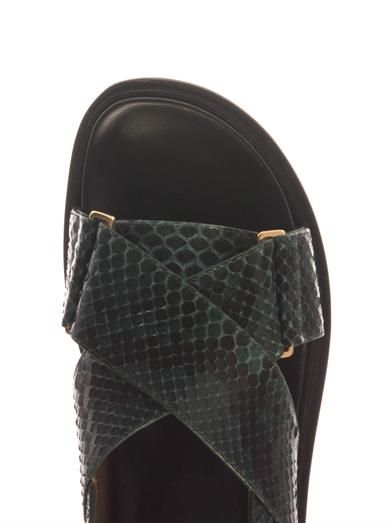 Marni Python and leather sandals