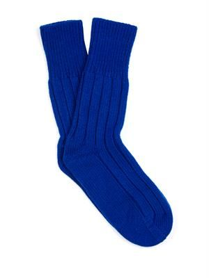 Wool-blend socks