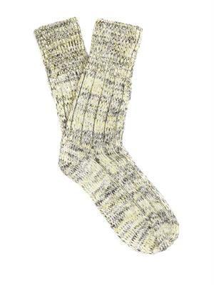 Chunky-knit wool-blend socks