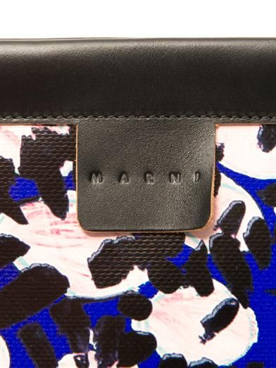 Marni François-Xavier PVC and leather clutch