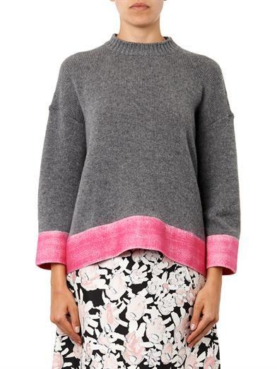 Marni Contrast-hem cashmere-blend sweater
