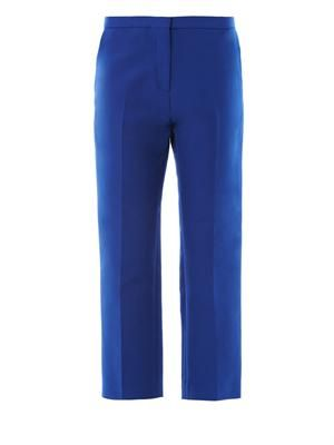 Cotton-cady cropped tailored trousers