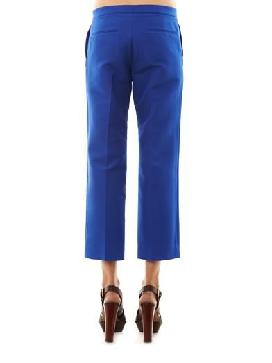 Marni Cotton-cady cropped tailored trousers