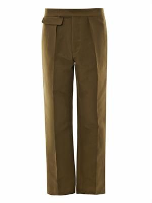 Cotton cady tailored trousers