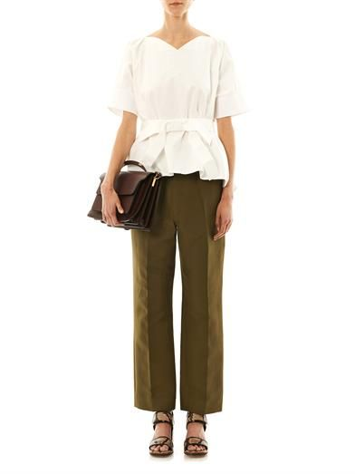 Marni Cotton cady tailored trousers