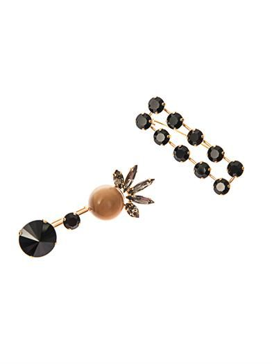 Marni Crystal-embellished double brooch