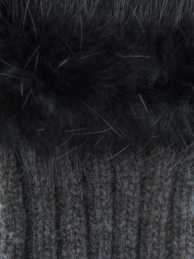 Marni Fur and leather mittens