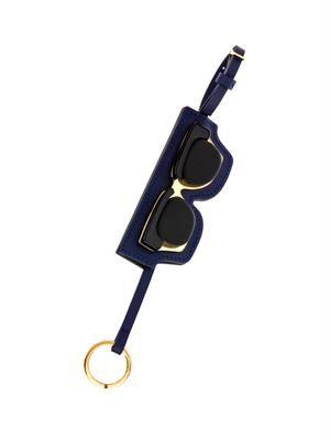 Sunglasses leather key ring