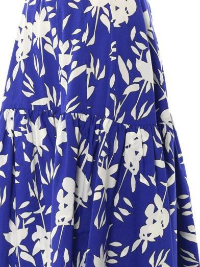 Marni Hollow Frond-print cotton-poplin skirt
