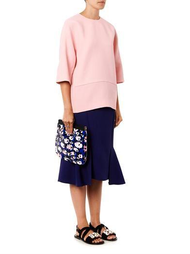 Marni Fishtail wool-crepe skirt