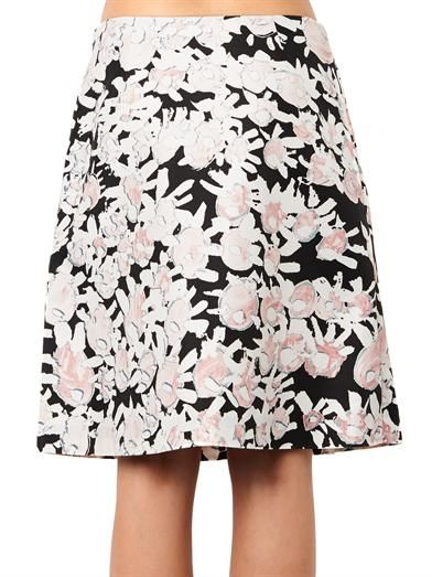 Marni Abstract floral-print A-line skirt