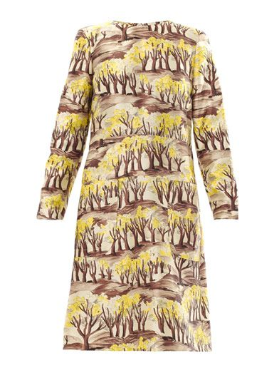 Marni Razmir forest-print dress