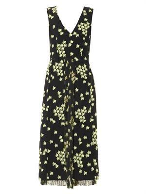 Japanese flower-print dress