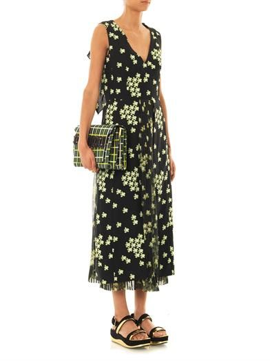 Marni Japanese flower-print dress