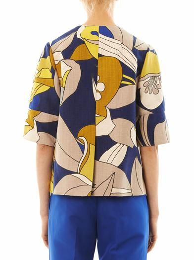 Marni Floral-print cotton jacket