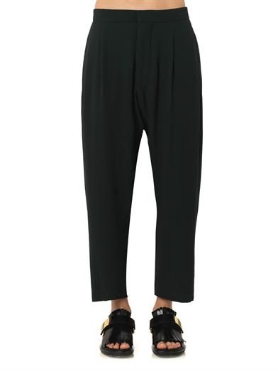 Marni Pleat-front tapered trousers