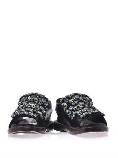 Marni Floral crystal-embellished sandals