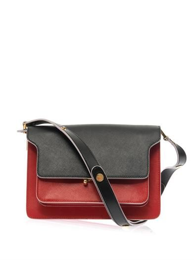 Marni Trunk saffiano calfskin shoulder bag
