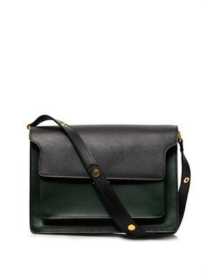 Trunk saffiano calfskin shoulder bag
