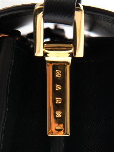 Marni Trunk saffiano calfskin shoulder bag