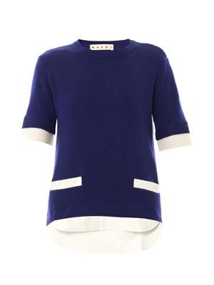 Shirt panel sweater