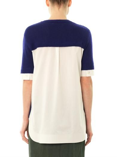 Marni Shirt panel sweater