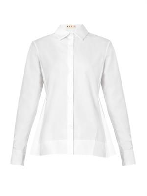 Pleat-back cotton shirt