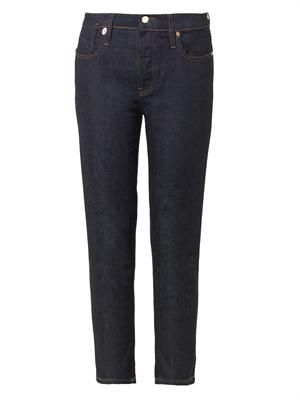 High-rise cropped skinny jeans