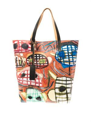 Christophe Joubert PVC and leather tote
