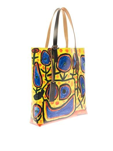 Marni Christophe Joubert 2 PVC and leather tote