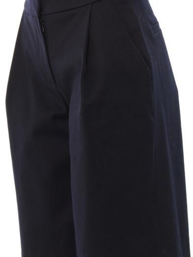 Freda Ellen cotton-piqué shorts