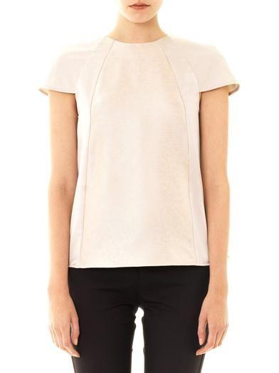 Freda Imogen jacquard panel blouse