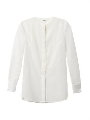 Erin cotton and silk-blend blouse