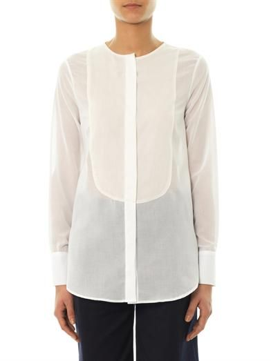 Freda Erin cotton and silk-blend blouse