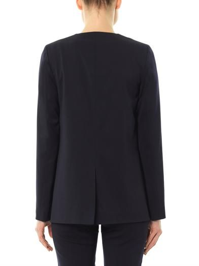 Freda Cara double-breasted wool-crepe blazer