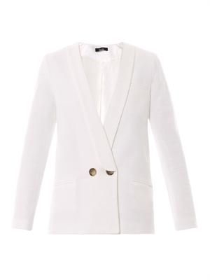 Cara double-breasted bouclé blazer