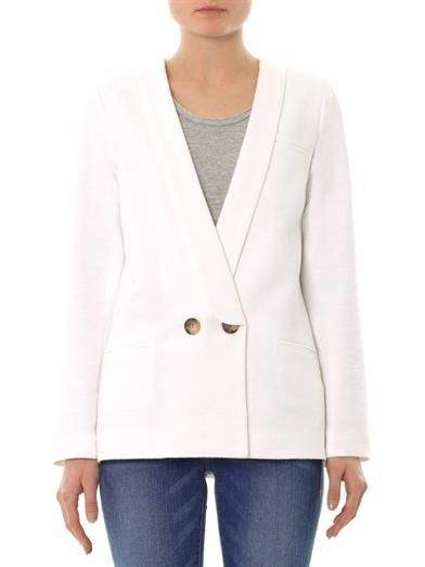 Freda Cara double-breasted bouclé blazer