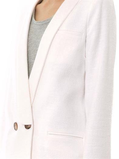 Freda Cara double-breasted bouclé blazer