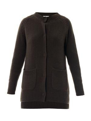 Leah chunky-knit cardigan