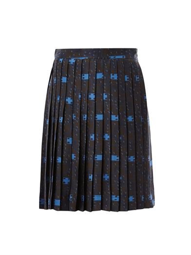 Freda Sofia pleated print skirt