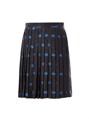 Sofia pleated print skirt