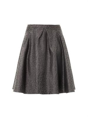 Mae leopard-jacquard skirt