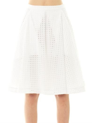 Freda Madison broderie-anglaise skirt