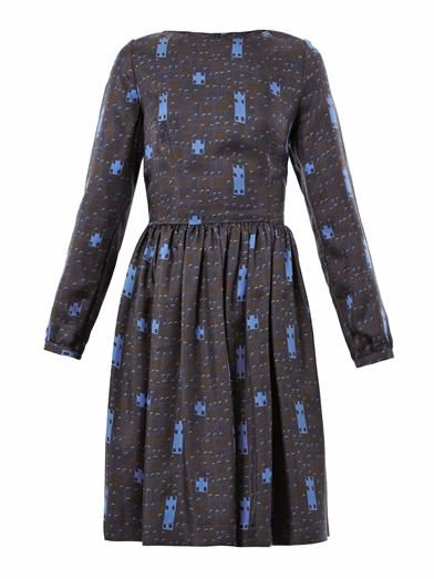 Freda Lydia printed silk dress
