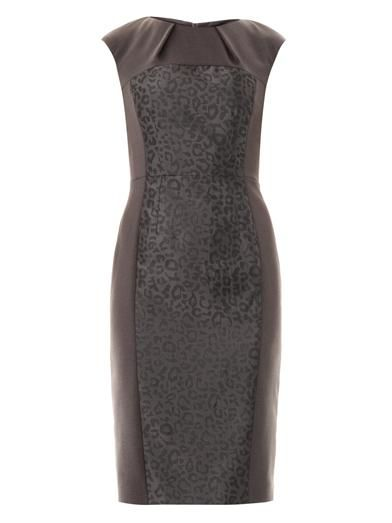Freda Bailey jacquard panel dress