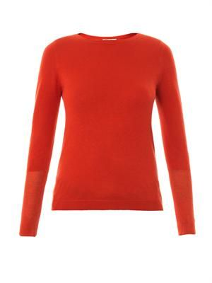 Ciara silk and cashmere-blend sweater