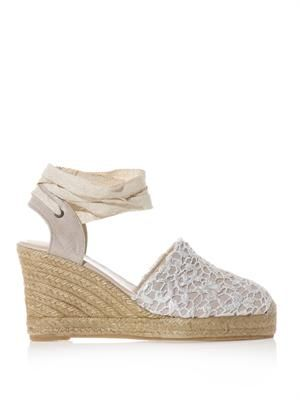 Valenciana lace wedge sandals