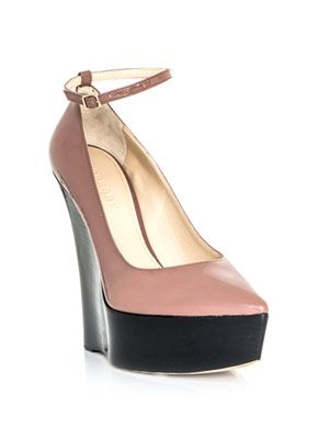 Patent leather wedges