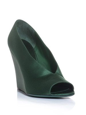 Shoreham satin wedges