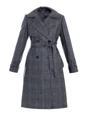 Enya tweed trench coat